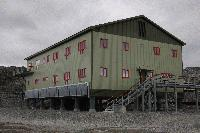 Solar panels on Bransfield House, Rothera research station