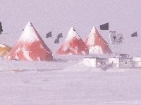 Field camp on Pine Island Glacier